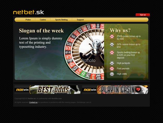 Úvodná stránka kasína