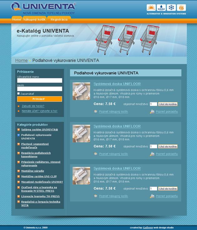 e-Shop kategória tovaru